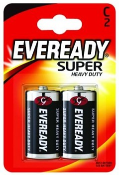 Baterie Eveready Super Heavy Duty C-R14 1,5V- 2 ks